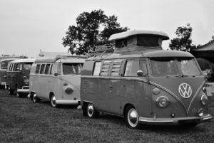 vw camper, vintage, car
