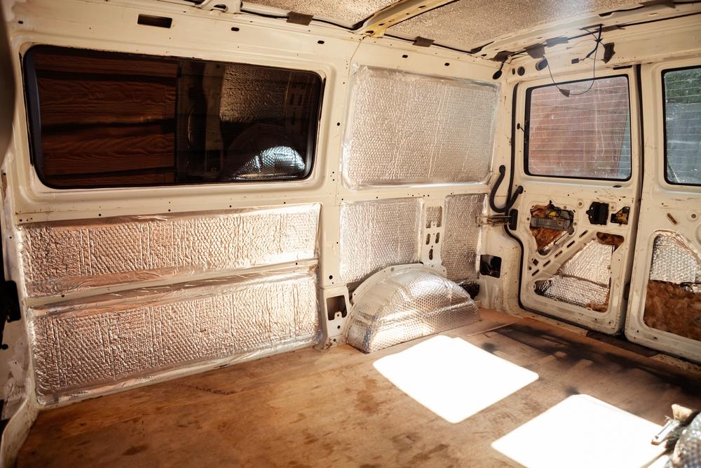 Carpet Lining In Camper Van Conversion